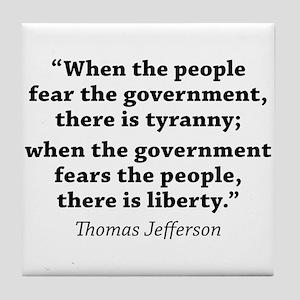 Jefferson Quote Liberty Tile Coaster