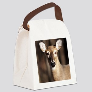 Whitetail Deer Doe Canvas Lunch Bag
