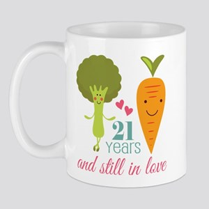 21 Year Anniversary Veggie Couple Mug