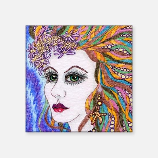 "seraphina - mermaid - squar Square Sticker 3"" x 3"""