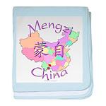 Mengzi China Map baby blanket