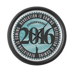 Conservative Revolution 2016 Large Wall Clock