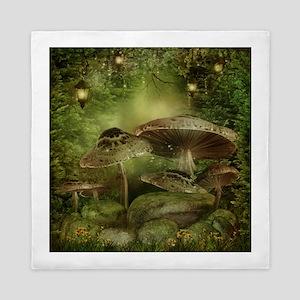 Enchanted Mushrooms Queen Duvet Cover