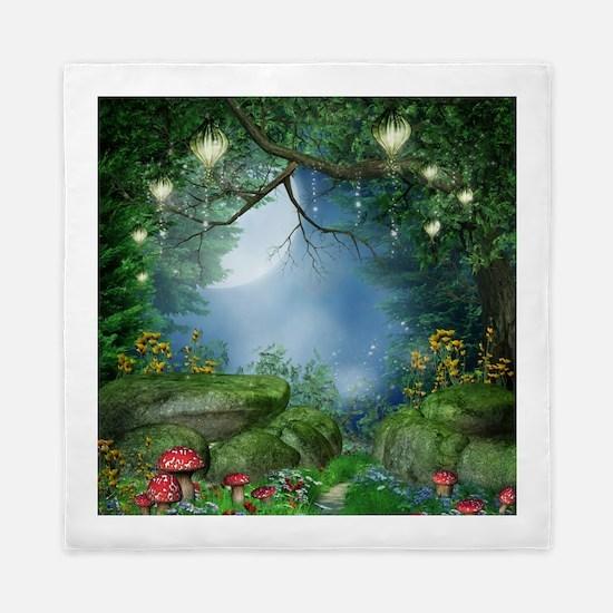 Enchanted Summer Night Queen Duvet Cover