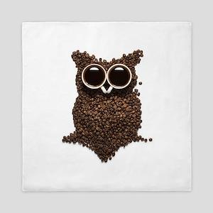 Coffee Owl Queen Duvet