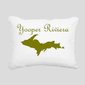 New_Olive_Yooper_Riviera Rectangular Canvas Pillow