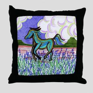 wild horse2 Throw Pillow