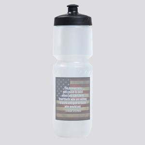 Jefferson Quote Democracy Sports Bottle