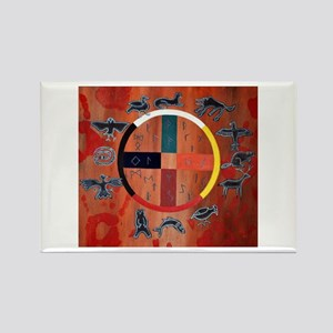 medicine wheel Rectangle Magnet