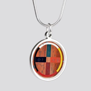 medicine wheel Silver Round Necklace