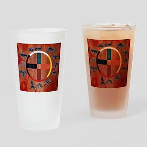 medicine wheel Drinking Glass