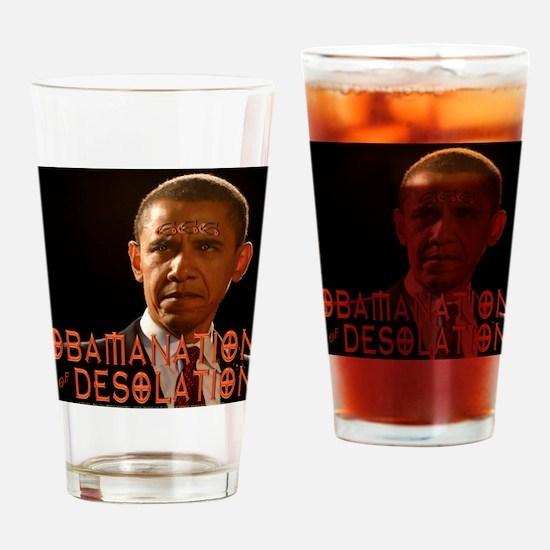 Obamanation666 Drinking Glass