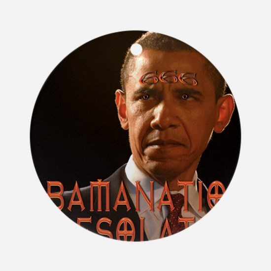 Obamanation666 Round Ornament