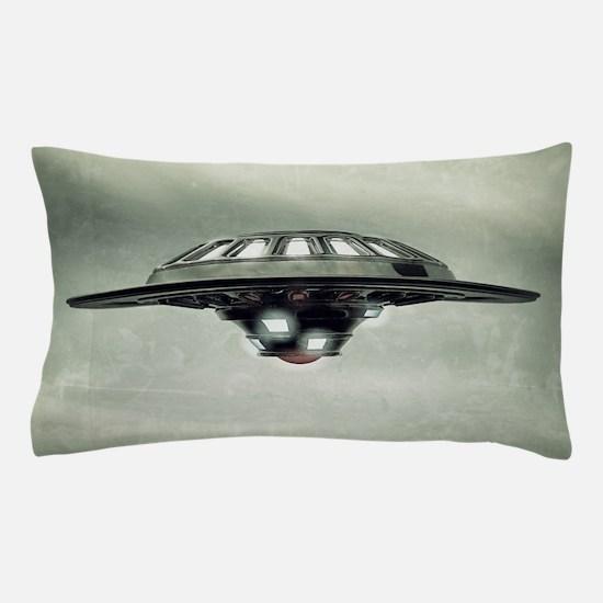 UFO Grunge Pillow Case