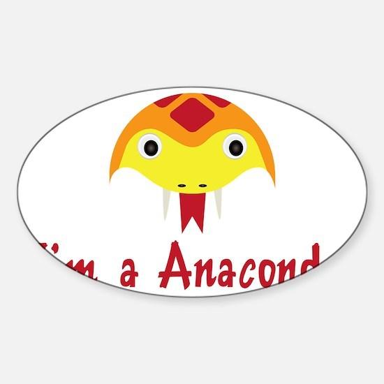 ANACONDA Sticker (Oval)