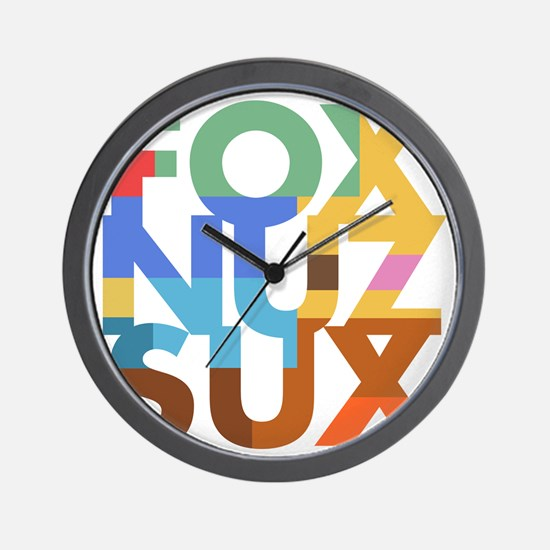 Fox_Nuz_Sux_2 Wall Clock