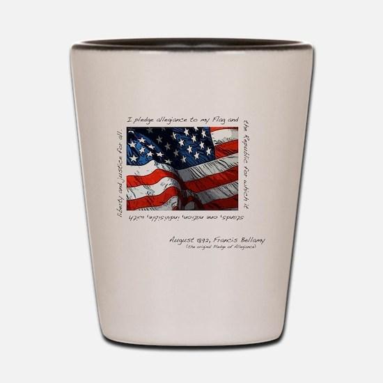 2-flag Shot Glass