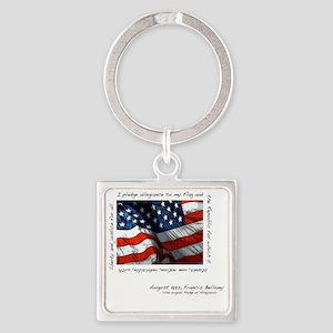 2-flag Square Keychain
