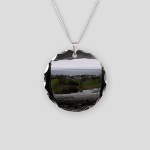 Mackinac Island Necklace Circle Charm