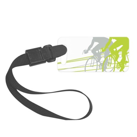 Bicycle Racers Small Luggage Tag