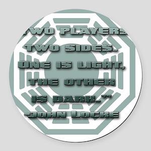 lost_locke_quote_backgammon Round Car Magnet