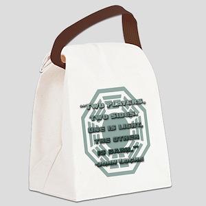 lost_locke_quote_backgammon Canvas Lunch Bag