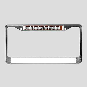 Bernie-Sanders-For-President-B License Plate Frame