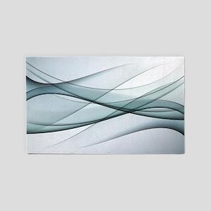 Aqua Abstract Area Rug