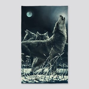 Winter Wolves Area Rug