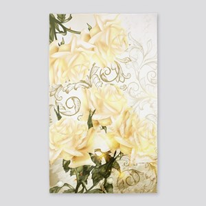 Artistic Yellow Roses Area Rug