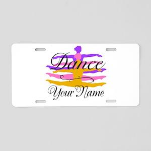 Dance Customizeable Aluminum License Plate