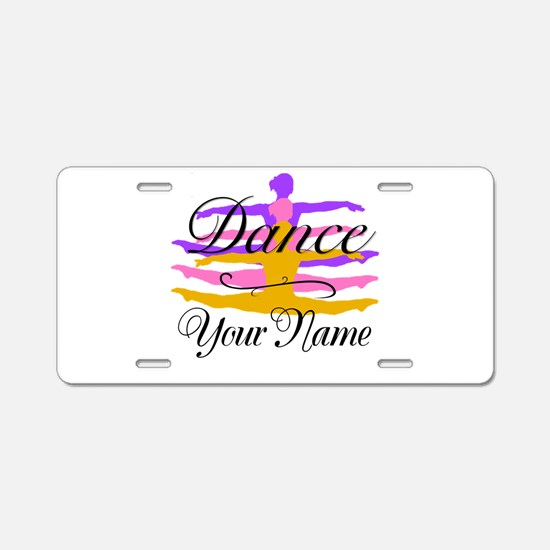 Dance Customizeable Aluminum License Plate