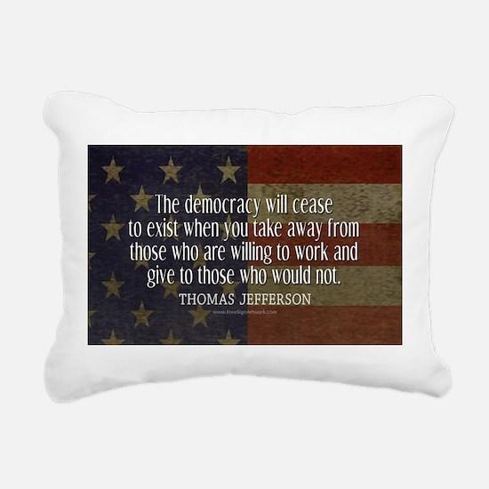 Jefferson Quote Democracy Rectangular Canvas Pillo