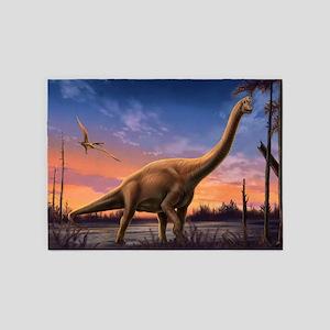 Jurassic Dinosaurs 5'x7'area Rug