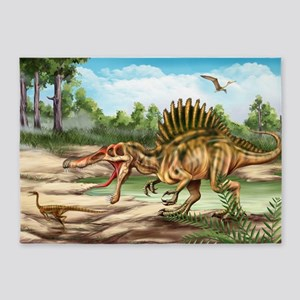 Dinosaur Species 5'x7'area Rug