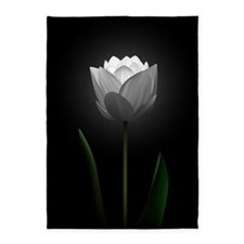 White Tulip 5'x7'area Rug