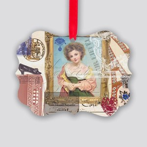 CardFrenchGirlpsd Picture Ornament