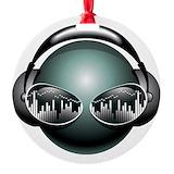 Dj music Round Ornament