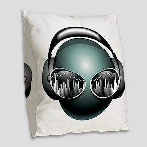 best dj Burlap Throw Pillow