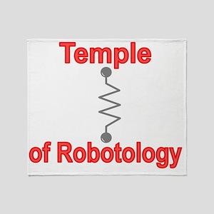 Temple Robotology Dk Grey Throw Blanket