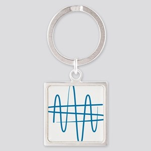 NWS_symbol_blue Square Keychain