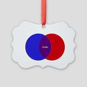 Cecilia2 Picture Ornament