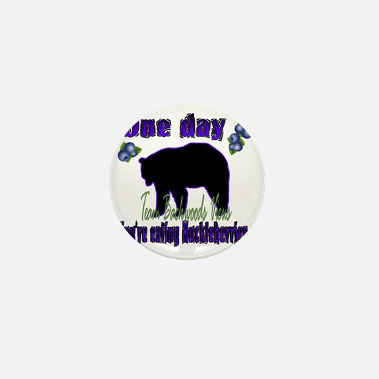 One day eating huckleberries...gif Mini Button