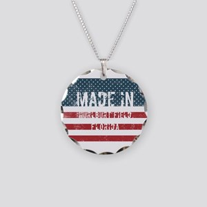 Made in Hurlburt Field, Flor Necklace Circle Charm