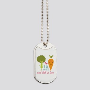 12 Year Anniversary Veggie Couple Dog Tags