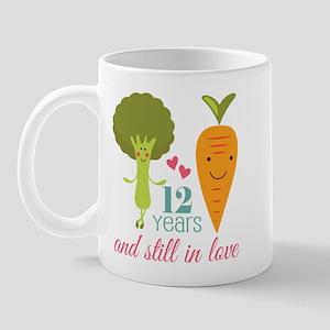 12 Year Anniversary Veggie Couple Mug