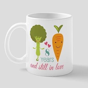 8 Year Anniversary Veggie Couple Mug