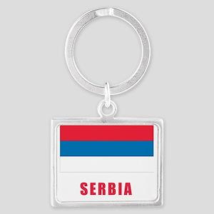 serbia_flag Landscape Keychain