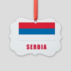serbia_flag Picture Ornament