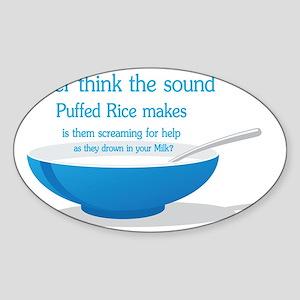 puffed rice Sticker (Oval)